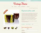 Vintage Responsive Theme - Cupcakes
