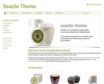 Seattle Responsive Ecommerce Theme - Natural brown & green