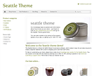 Seattle Responsive Ecommerce Theme - Green & grey