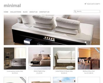 Minimal Responsive Theme - White & grey